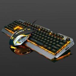 Mechanical Keyboard USB Cable Ergonomic Mechanical Gaming Ke