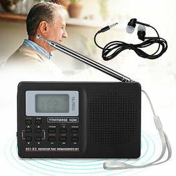 Digital Portable Pocket AM FM Radio World Full Band Stereo R