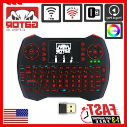 Mini Wireless Keyboard Remote Touchpad 2.4GHz Smart-TV Andro