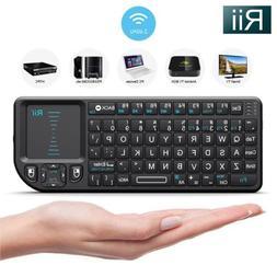 Rii Mini X1 2.4G Mini Wireless Keyboard Touchpad for PC Smar