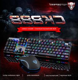 Motospeed CK888 Mechanical Gaming Keyboard And USB Optical M