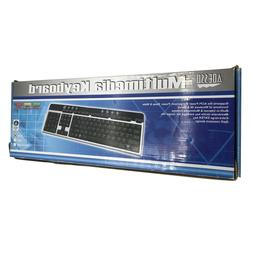 New Adesso AKB-130PS - Multimedia Desktop Keyboard - PS/2 In