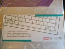 NEW Focus Electronic FK-2001 Mechanical Keyboard w. Dust Cov