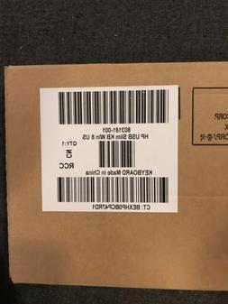 New Genuine HP Black Slim USB Keyboard PN 803181-001