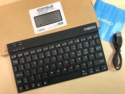 NEW Orbo Wireless Backlit Ultra Slim Keyboard Bluetooth 3.0