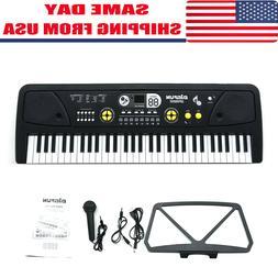 Potable 61 Keys Electronic Keyboard Digital Music Piano W~Mi