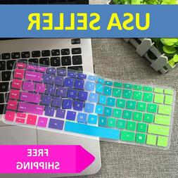 Rainbow Keyboard Cover Skin Case Silicone for Hp Pavilion St