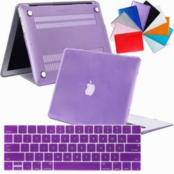 Shockproof Rubberized Hard Laptop Case + Keyboard Cover For