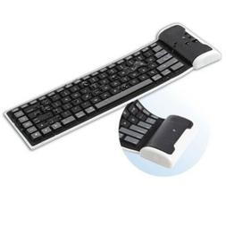 Slim Mini Flexible Folding Roll-Up Keyboard Keypad for Phone