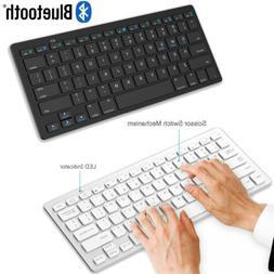 Slim Wireless Bluetooth Keyboard For iPad iMacs PC iOS Andro