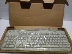 Vintage BTC White Keyboard Model 5123W Clicky DIN 5 Pin Conn