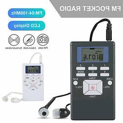 Portable Mini Personal Stereo FM Radio Digital LCD Display R