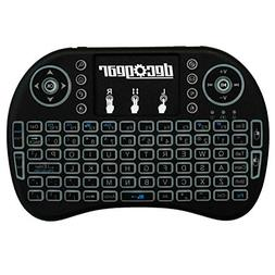 Deco Gear 2.4GHz Wireless Backlit Keyboard Smart Remote with