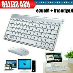 Wireless Keyboard and Mouse Comb Cordless USB 2.4Ghz PC Lapt