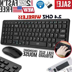 Wireless Keyboard and Mouse Combo Computer Desktop PC Laptop