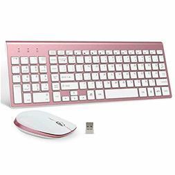 Wireless Keyboard and Mouse Combo, FENIFOX 2.4G USB Ergonomi