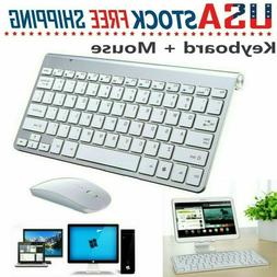 For Mac Apple PC Computer 2.4G Mini Wireless Keyboard+Mouse