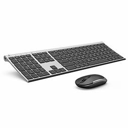 Wireless Keyboard and Mouse, Vssoplor 2.4GHz Rechargeable Co