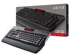 EVGA Z10 Gaming Keyboard, Red Backlit LED, Mechanical Blue S